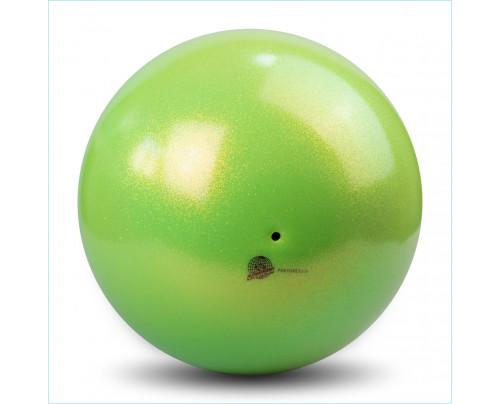 RSG Ball Pastorelli Wettkampfball 18cm FIG Gymnastikball Glitter HV Lime