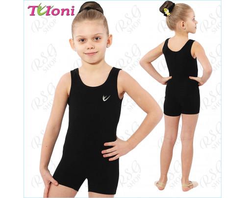 Trainingsanzug für RSG, Tanzen und Ballett Tuloni BSH01CL-B Schwarz Gr. 28 bis XL