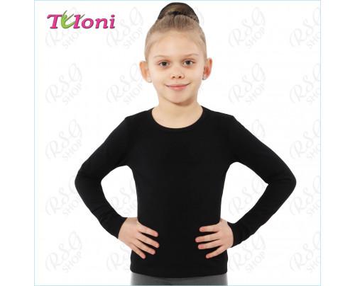 Tuloni T-Shirt FN03C-B mit langen Ärmel in Schwarz