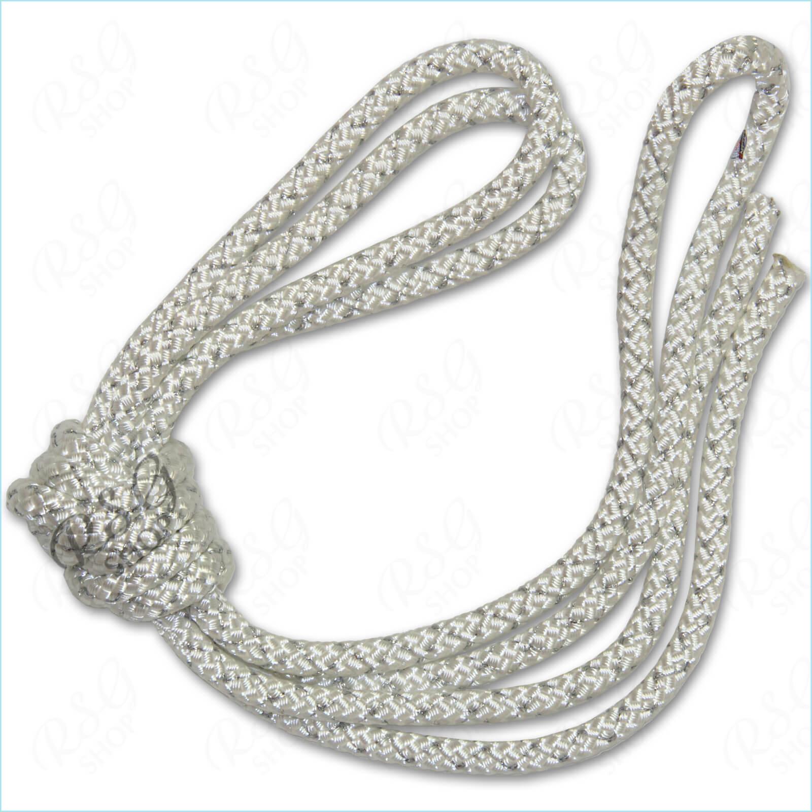 Скакалка 3м Pastorelli Metal цвет Белый-Серебряный FIG Артикул 03456